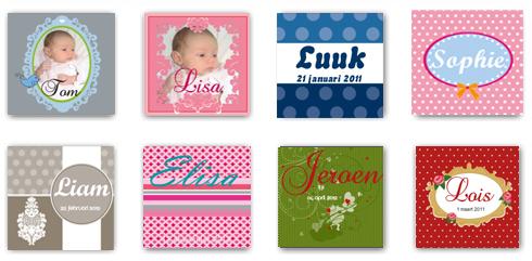Klassieke geboortekaartjes